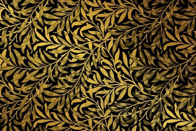 Vintage gouden bloemmotief Gratis Foto