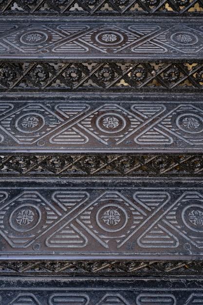 Vintage metalen sierlijke trappen. achtergronden en texturen Gratis Foto