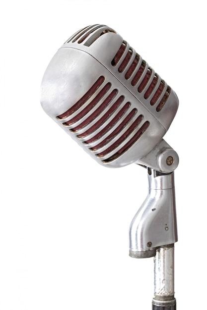 Vintage microfoon Premium Foto