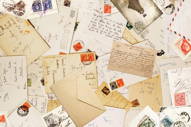 Vintage papier voor correspondance achtergrond Premium Foto