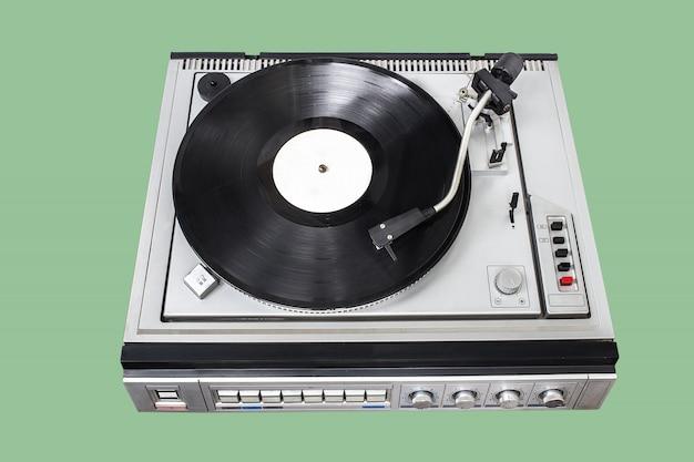 Vintage platenspeler met radio-tuner Premium Foto