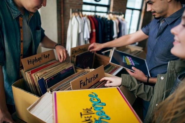 Vintage vinylrecorder Premium Foto