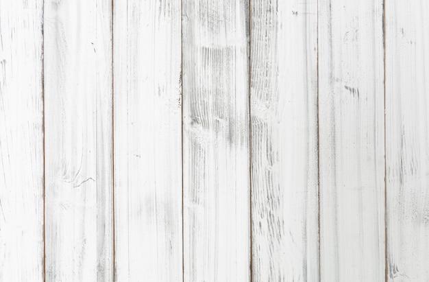 Vintage witte houten plank achtergrond Premium Foto