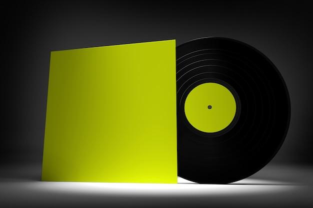Vinylplaat - 3d-rendering Premium Foto