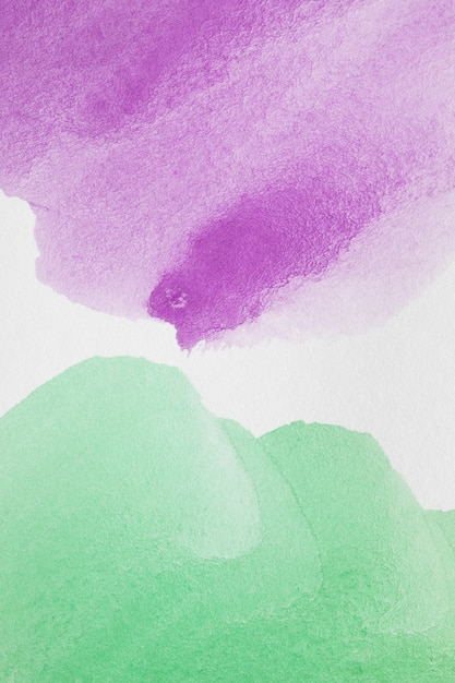 Violette en groene abstracte pasteltinten Gratis Foto