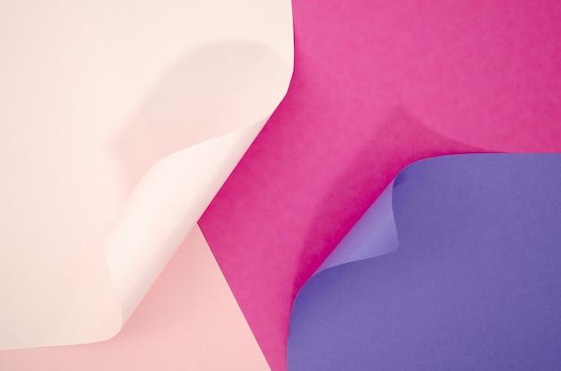 Violette tinten abstracte compositie met kleurendocumenten Gratis Foto