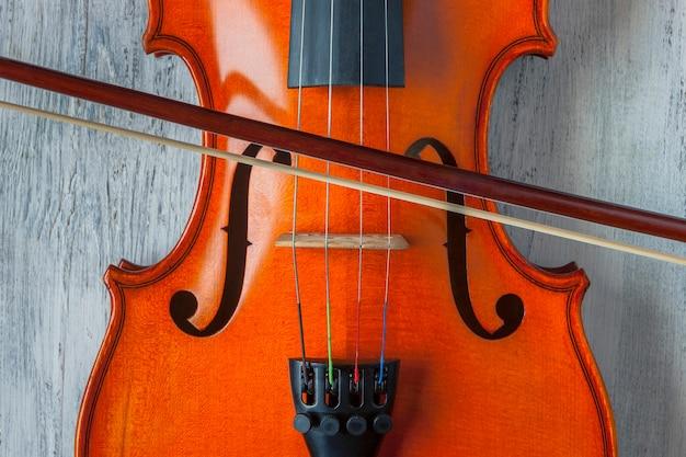 Viool met strijkstok Premium Foto
