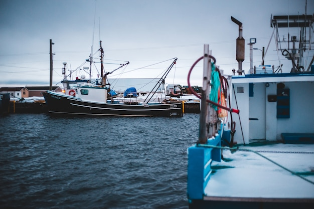 Vissersboten overdag Gratis Foto
