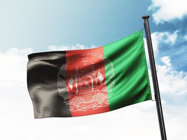 Vlag van afghanistan Premium Foto