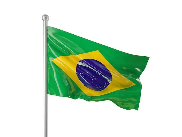 Vlag van brazilië Premium Foto