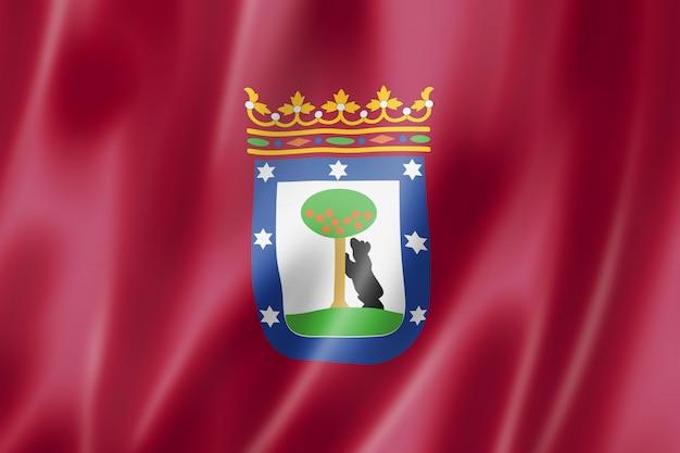 Vlag van de stad madrid, spanje Premium Foto