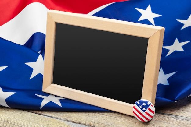 Vlag van de verenigde staten van amerika. usa vakantie van veteranen, memorial, independence en labor day. Premium Foto