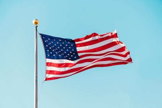 Vlag van de verenigde staten van amerika Gratis Foto