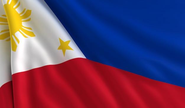 Vlag van filipijnen Premium Foto