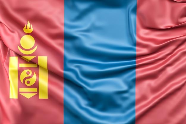 Vlag van mongolië Gratis Foto