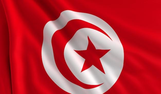 Vlag van tunesië Premium Foto