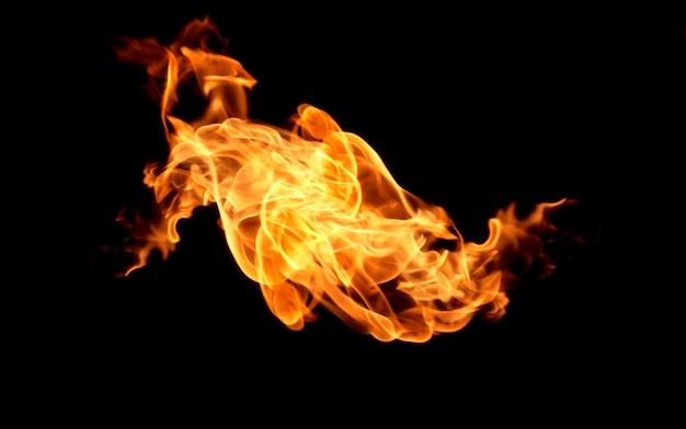 Vlam warmte brand abstracte achtergrond Premium Foto