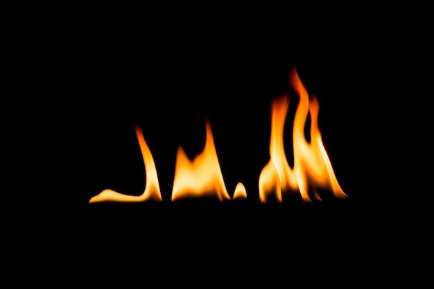 Vlammen. zwart. Premium Foto