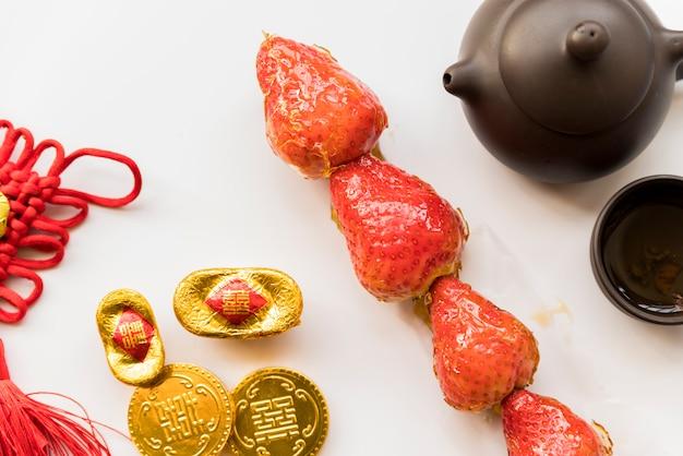 Voedsel voor chinees nieuw jaar Gratis Foto