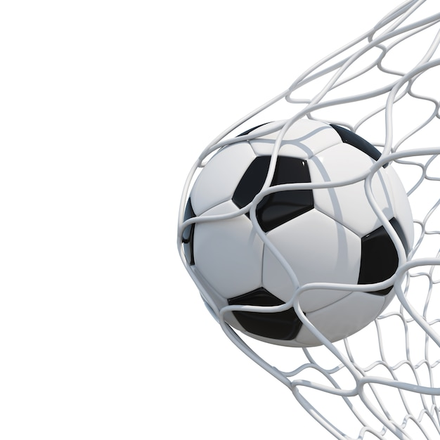 Voetbal in netto Premium Foto