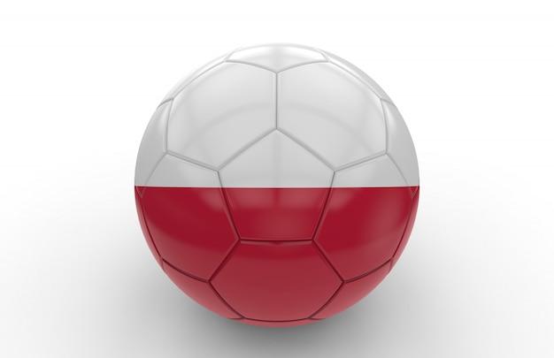 Voetbal met poolse vlag Premium Foto
