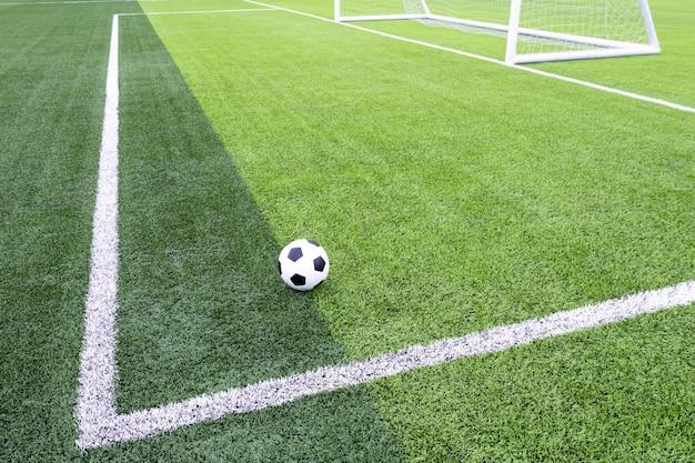 Voetbalveld met kunstgras Premium Foto