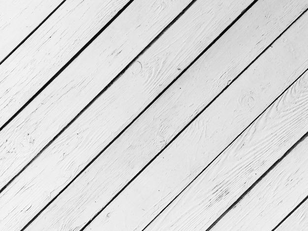 Volledig frame van geschilderde witte houten plank Gratis Foto