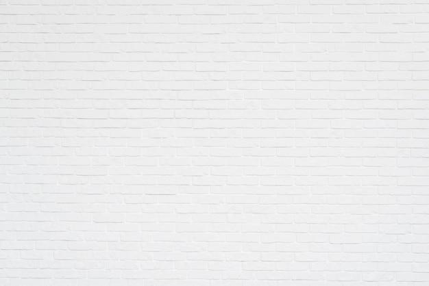 Volledig frame van witte bakstenen muur Gratis Foto