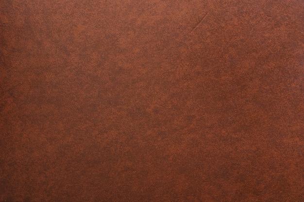 Volledig kaderschot van bruine leerachtergrond Gratis Foto