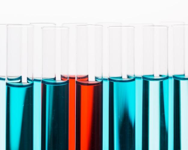 Vooraanzicht wetenschap elementen assortiment in laboratorium close-up Gratis Foto