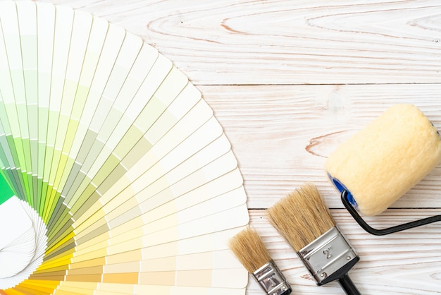 Voorbeeld kleurencatalogus of kleurstalen boek Premium Foto