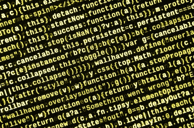 Voorbeeld van computerprogramma. Premium Foto
