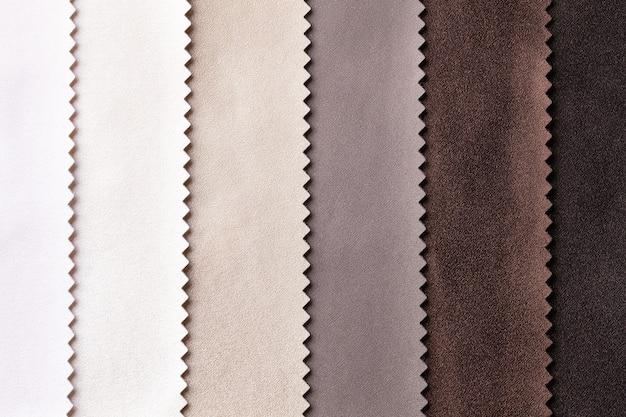 Voorbeeld van leer, textiel, bruine en beige kleuren Premium Foto