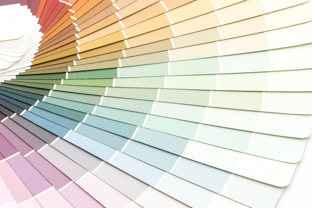 Voorbeeldkleuren catalogus pantone Premium Foto