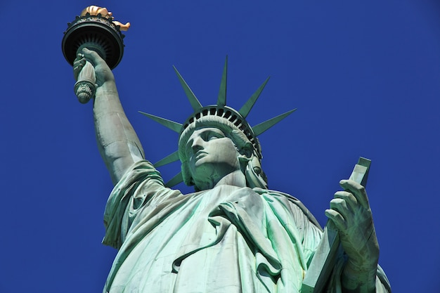 Vrijheidsbeeld in new york, verenigde staten Premium Foto