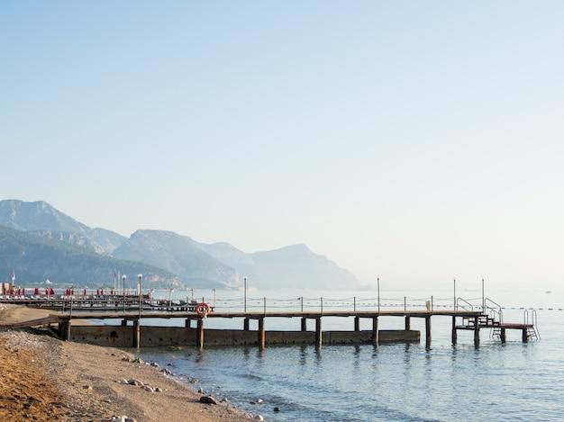 Vroege ochtend op het strand. Premium Foto