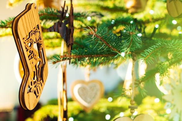 Vrolijke kerstmis en gelukkig nieuwjaar concept Premium Foto