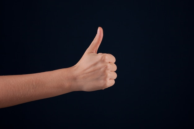 Vrouw hand Premium Foto