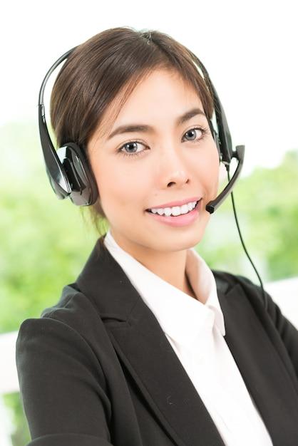 Vrouw klantenservice Gratis Foto