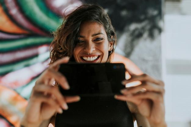 Vrouw met een video-oproep Gratis Foto