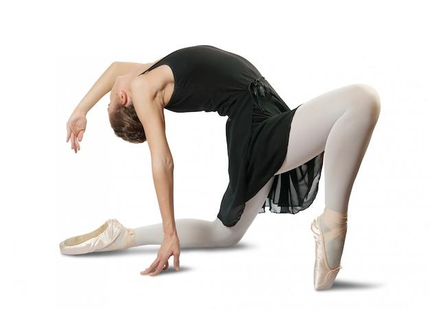Vrouwelijke ballerina die een dans uitvoert Gratis Foto