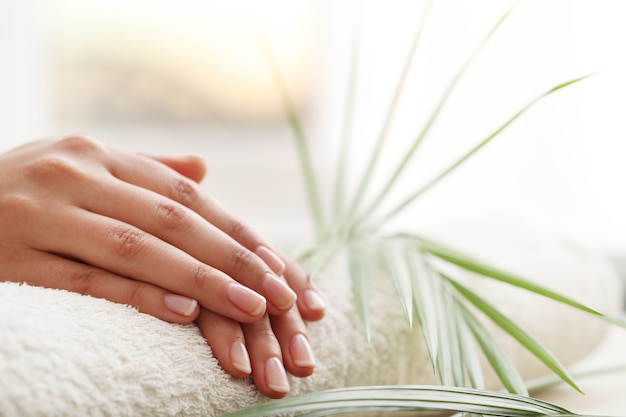 Vrouwelijke handen. manicure concept Gratis Foto