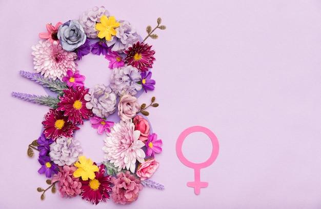 Vrouwendag bloemsymbool Gratis Foto