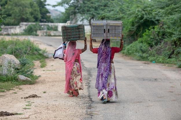 Vrouwenleven india Premium Foto