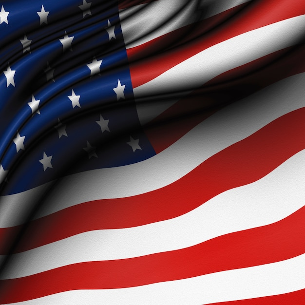 Vs of amerikaanse vlag achtergrond Premium Foto