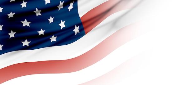 Vs of amerikaanse vlag met kopie ruimte Premium Foto