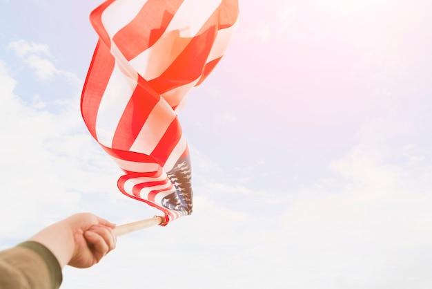 Vs vlag zwaaien door wind Gratis Foto