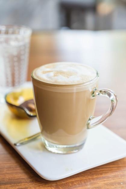 Warme latte koffiekopje Gratis Foto