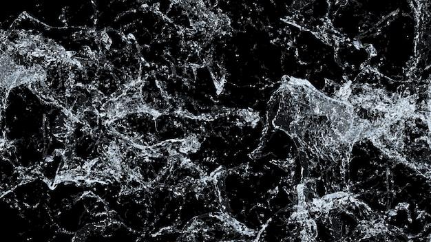 Water splash macro. 3d. Premium Foto