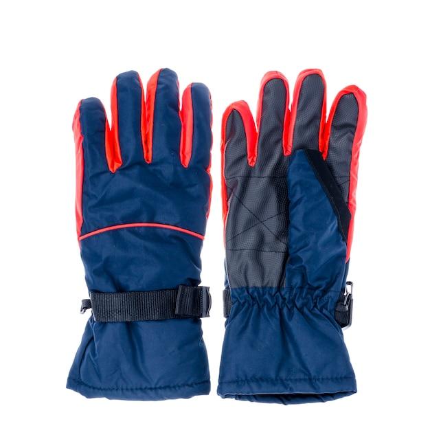 Waterdichte handschoenen voor de wintersport. Premium Foto